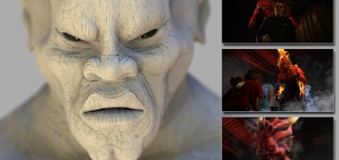 Demon Model – I created this model and effects for the Martin Rodriguez short film 'Speak of the Devil'