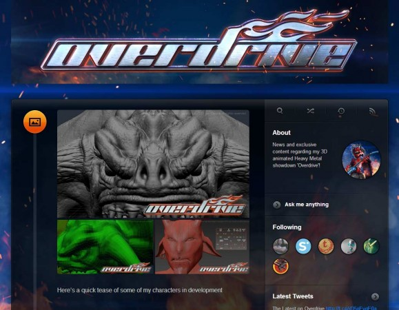 Check out my Tumblr Page for Overdrive!